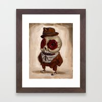 Sharp Calavera Framed Art Print