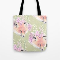 Fox & Foxgloves  Tote Bag