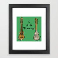 C is for Charango Framed Art Print