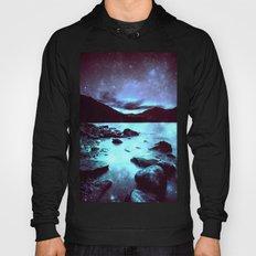 Magical Mountain Lake Violet Aqua Hoody