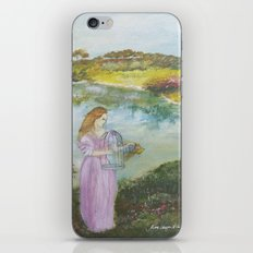 Girl Setting a Bird Free iPhone & iPod Skin