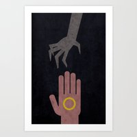 Lord of the Rings Minimalist Posters: Towers Art Print