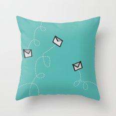 Spin a Message  Throw Pillow