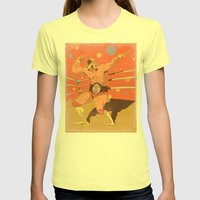 The Hulkster! Womens Fitted Tee Lemon SMALL