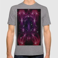Abstract Stars Mens Fitted Tee Athletic Grey SMALL