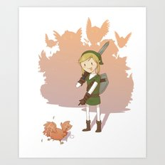 Link - Chicken Art Print