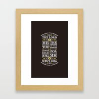 Psalm 37:4 Framed Art Print