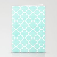 MOROCCAN {TEAL & WHITE 2… Stationery Cards