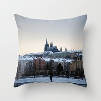 Prague Castle Throw Pillow