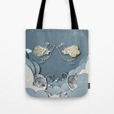 Blue kiss in spring Tote Bag