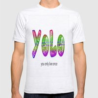 YoLo Mens Fitted Tee Ash Grey SMALL
