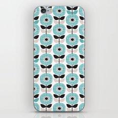Retro poppy blossom winter illustration pattern iPhone & iPod Skin