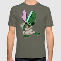 Yoda Stitch Mens Fitted Tee Lieutenant SMALL