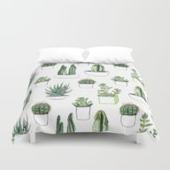 Watercolour Cacti And Su… Duvet Cover