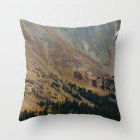 Warm Valley Throw Pillow
