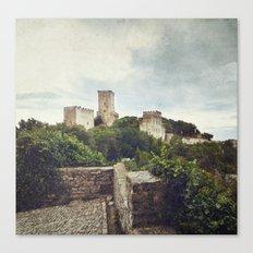 Erice Castle Canvas Print