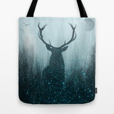 Snow Stag Tote Bag
