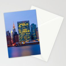 Beginning of the night over Manhattan Stationery Cards
