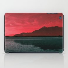 RED SKY OVER LAKE iPad Case