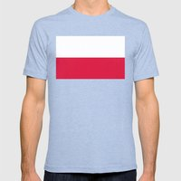 National flag of Poland Mens Fitted Tee Tri-Blue SMALL