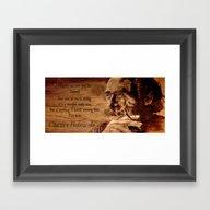 Charles Bukowski - Wood … Framed Art Print