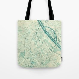Tote Bag - Vienna Map Blue Vintage - City Art Posters