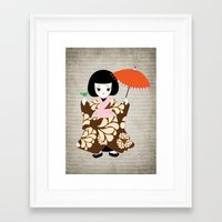 Madame Butterfly Framed Art Print