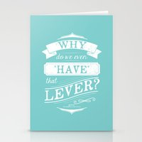 Why do we even have that lever? Stationery Cards