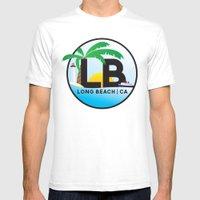 Long Beach CA Logo Desig… Mens Fitted Tee White SMALL