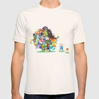 Adventure Time - Land Of… Mens Fitted Tee Natural SMALL