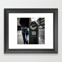 Littering Is Disgusting.… Framed Art Print
