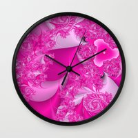 Pretty N Pink Wall Clock