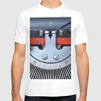 Vintage typewriter 2 Mens Fitted Tee White SMALL