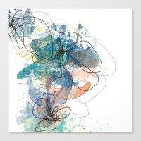 Blue Botanica Canvas Print
