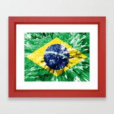 Brazil Flag - Extend Framed Art Print