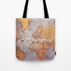 Wanderlust Map Tote Bag
