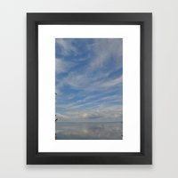 Fishing In The Bay Framed Art Print