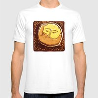 Conjunction Moon And Pla… Mens Fitted Tee White SMALL