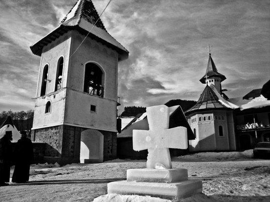 Winter at Petru Voda Monastery, Moldova, Romania Art Print