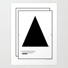 Geometric  - Dreieck . (Spanish) Art Print