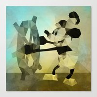 Mickey Mouse as Steamboat Willie Canvas Print