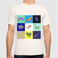 Animal Stripes Compositi… Mens Fitted Tee Natural SMALL