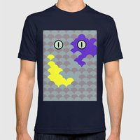 Chesire Scales - Cat Eye - Wonderland Mens Fitted Tee Navy SMALL