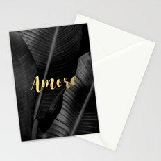 Love (amore) gold - bw banana leaf Stationery Cards