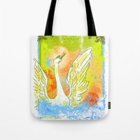 Swan Splash Tote Bag