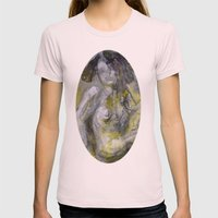 Nude in Yellow Womens Fitted Tee Light Pink SMALL