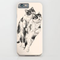 cats iPhone & iPod Cases featuring Cats by Anna Shell