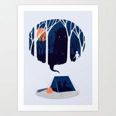 Scary story Art Print