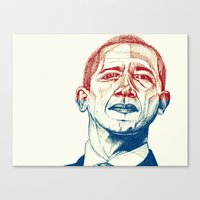 Red, White and Obama Canvas Print