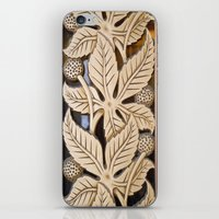 Bronze Art deco leaves iPhone & iPod Skin